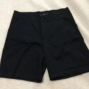 Black Lee Bermuda shorts